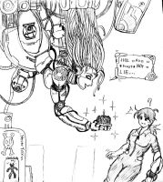 Cake and Chell and GlaDOS by ViperXtreme