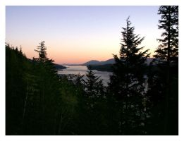 The Tongass Narrows at Sunset by febbik