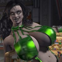 Cardassian Pinup Close Up by willdial