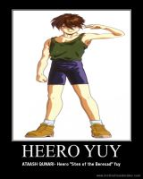 Heero Yuy Motivational Poster by slyboyseth