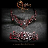 Leather jewelry set by Deakath