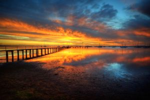 Corio Bay Sunrise HDR by DanielleMiner