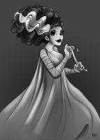 Bride of Frankenstein by StressedJenny