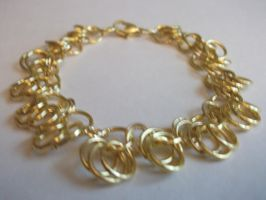 Gold Dangle Bracelet by NevinSlate