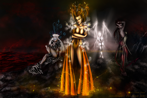 Four Great Queens of Hell by BlackSaiyan
