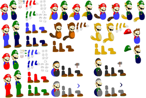 Mario and Luigi template UPDATE by SuperUltraMarioFan