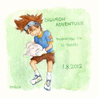Digimon Adventure: 13 years! :) by emichii