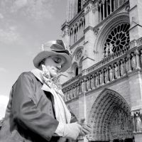 Clown at the Cathedral by myrnajacobs
