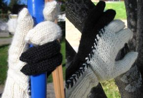 black and white gloves by altriar