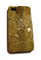 Laser Engraved Bamboo iPhone Case by dizzyflower28
