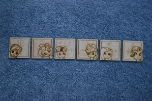 Mane6 Drink Coasters by GhostOfWar909