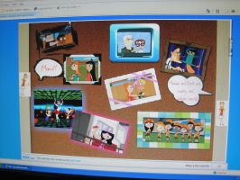 Phineas and Ferb Buliten Board by Brownie1112