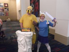 Jake, FIonna, and my everything burrito! by EmplehsADeviant