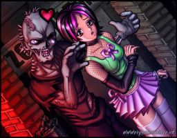 Zombie Love CG by Bomu