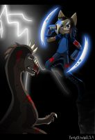 .:Blue Blade Fight:. by AngelSoleil21