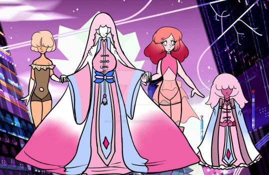 Chalcedony and her Entourage by LoneWolfChild88