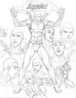 Young Justice CD Aqualad by nathanscomicart