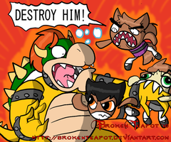TKZ beat up Bowser by BrokenTeapot