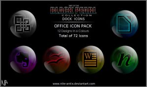 Black Pearl Office Dock Icons by NiTE-ANTiX