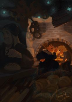.The warm bakery. by SilverFable