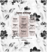 my new topaz clean atn - settings by savaxy