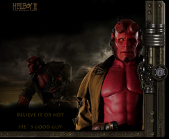 Hellboy Wallpaper by dulcevg