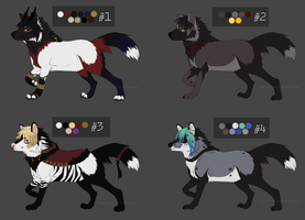 [Auction OPEN] Canine Adoptables by ShironekoAdopts