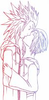 AkuZeku - kiss coloured lines by fanfiction-fanatic