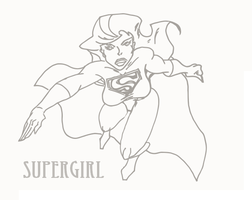 Simple Supergirl Vector by MaxDaMonkey