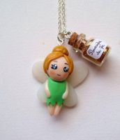 Tinkerbell necklace by curry-brocoli