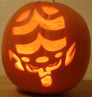 Mojo Jojo Pumpkin Light Ver. by johwee