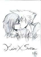 soraXkairi kiss by trannes