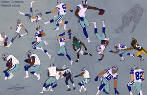 Cowboys Football SketchStudy 4 by DJCoulz