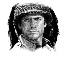 Clint Eastwood by pardoart