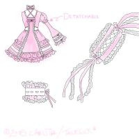 Gothic lolita dress design2 by DarkDevi