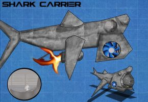 Shark Carrier by NathanRussell