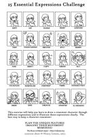 25 Expressions Challenge by Rafanas