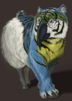 Sheep Tiger Parrot by 8kx