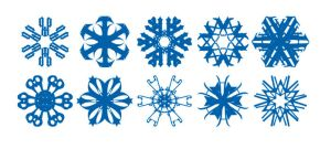 Vector-Snowflakes eps by Marauthe