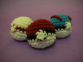 Pokeball Hackey Sacks by FishingForBirdies