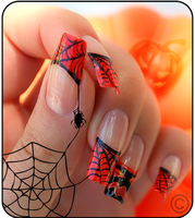halloween nails by Tartofraises