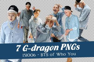 [PNG] 7 G-Dragon PNGs @ BTS of Who You by SammyYun