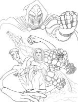 Fantastic Four finished design by Sturby
