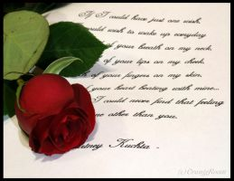 Rose and Letter by OrangeRoom
