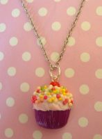 Sprinkly cupcake necklace by citruscouture