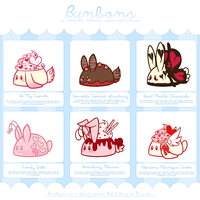 [CLOSED] Bunbon Adoptables - Set 7 *THEMED SET* by Kiwicide