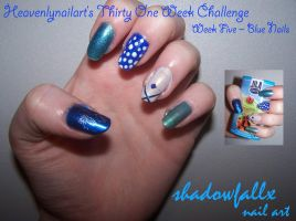 Week Five - Blue Nails by shadowfallx