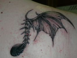 Evil eighth note tattoo by Steamwriter