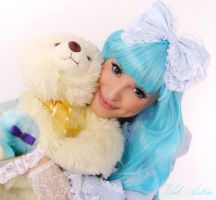 Sweet Lolita with bear by Yana-Mio