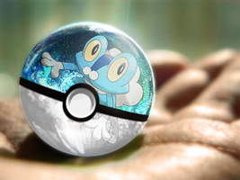 Froakie Pokeball by psidazed